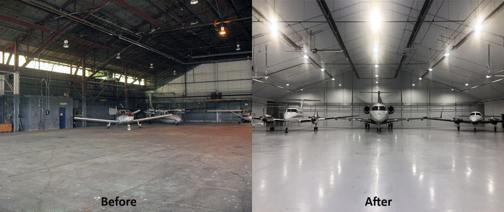 Hangar Before And After